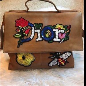 Hobo messenger crossbody upcycled bag